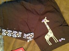 NWT~GYMBOREE~JUNGLE GEM~CLAMDIGGERS~6-7-8-9-10-12~BROWN~GIRAFFE~FLOWER~PURPLE