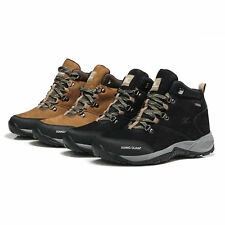 New Men Trekking Shoes Waterproof Mountain Hiking Camping Outdoor Leather Boots