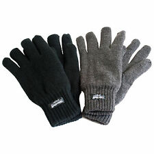 MENS WOMENS THINSULATE WINTER THERMAL COSY WORK THICK WARM  ACRYLIC GLOVES M-XL