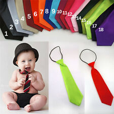 Infant, Toddler & Boys Ties 20 Solid Colors Match Your Wedding Elastic Necktie