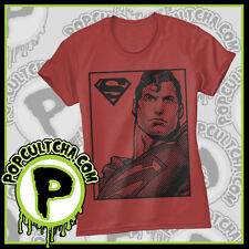 DC Comics - Superman - Pixel Red Female T-Shirt by Caprice