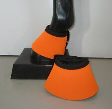Horse Bell or Overreach Boots Orange & Black  AUSTRALIAN MADE Protection