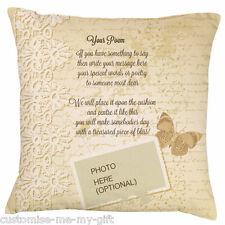 Your Poem Cushion | Your text | LACE | Christmas | Birthday | Mothers Day
