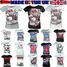 NEW LADIES T-SHIRTS WOMEN GIRLS TOPS PRINTED LONDON CULTURE SOUVENIR  SIZE-S,M,L