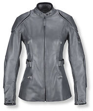 Belstaff Ladies Mallory Leather Jacket in Iron Grey - BNWT
