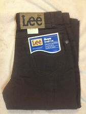 New Original Vintage Lee Twill Colors Unwashed Jeans Brown