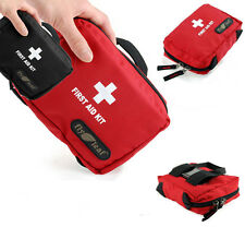 FL662 Empty First Aid Kit Bag Travel Camping Carry-on Medicine Bag red/black