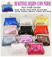 Sequin Coin Purse kiss lock/ Woman's & Girl's Wallet -Perfect Gift! US Seller