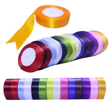 16Colors  6sizes 25 Yards rolls 22 Metres of Satin Ribbon Craft Supplies crafts