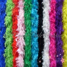 "2M 78"" Fluffy Turkey Feather Boa Dress Up Wedding Party Home Costume Decoration"