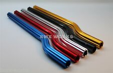 BMX Fluted Snake Seat Post Anodized Colours 22.2mm x 400mm Old School BMX Works