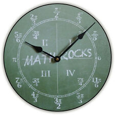 "Large wall clock, Math Clock 12""- 48"" Whisper Quiet, Non-Ticking"