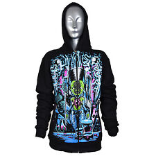 Franky Hoodie Ladies Cupcake Alternative Gothic Emo Punk UK Clearance Discount