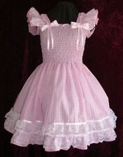 Sundress Gingham Pink Adult Baby Sissy Aunt D