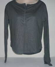 Womens AEROPOSTALE Long Sleeve Loose Sheer Henley Shirt NWT #5127