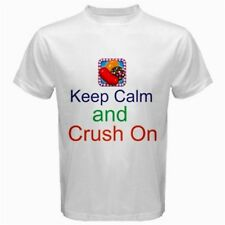 Keep Calm and Crush On Candy Crush Saga T-Shirt White CC1