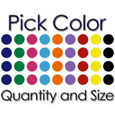 POLKA DOTS PICK COLOR AND SIZE VINYL WALL ROOM DECOR ART DECAL STICKER (PD-01)