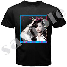 NEW DEMI LOVATO THE NEON LIGHTS TOUR 2014 GILDAN BLACK T SHIRT ANY SIZE WITH T/N