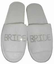 Personalised Diamante Slippers OFFER! WEDDING BRIDE HEN PARTY mother of the