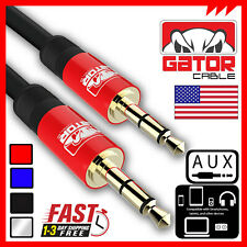 PREMIUM AUX AUDIO CABLE 5FT GATOR CABLE 3.5mm male Stereo/Car/iPhone/iPod/iPad