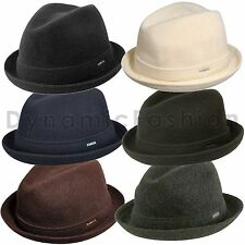 100% Authentic Kangol Wool Player Fedora Trilby Hat Cap 6447BC