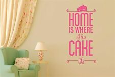 Home Is Where The Cake Is Wall Stickers Decals Art Quotes