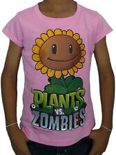 New Plants vs Zombies T Shirt for Kids SunFlower Pink