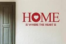 Home Is Where The Heart Is Large Wall Stickers Decals Quotes