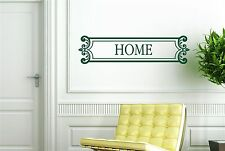 Home Sign Framed Wall Stickers Decals Art Quotes