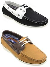 Mens Boat Shoes Casual Faux Leather Moccasin Comfort Deck Rubber Sole Brixton