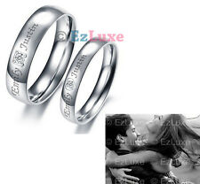 PERSONALIZED you are Perfect in my mind Couple Ring Forever Love Heart Square CZ