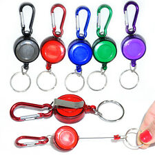 KEY CHAIN  RETRACTABLE RECOIL YOYO SKI PASS ID CARD HOLDER BADGE REEL CARABINER