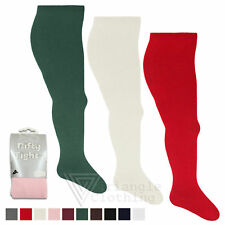 Nifty Girl Tights Plain Rich Black Red White Newborn to 13 Years All Sizes