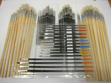 artists paint brush set art craft hobbies model oil water different tip sizes