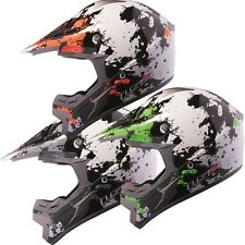 LS2 MX433 BLAST OFF ROAD MOTOCROSS MOTORCYCLE MOTORBIKE CRASH HELMET MX443