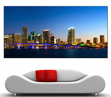 Miami Skyline Canvas Giclee Home Wall Art Prints Photo Colorful Print 2