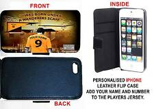 PERSONALISED UNOFFICIAL WOLVERHAMPTON WANDERERS IPHONE PU LEATHER CASE