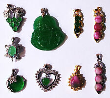 A Beautiful Green Jade Pendant, Many Designs,FREE Gift Velvet Pouch