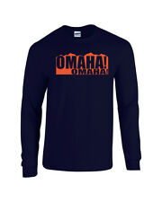 OMAHA OMAHA Peyton Manning DENVER BRONCOS Mountains LONG SLEEVE Men's Tee Shirt