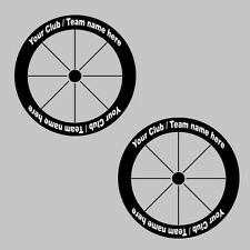 Personalized Club / Team Name Carbon Bike/Cycling/Cycle Wheel Decal Sticker Kit