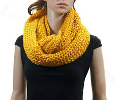 Infinity Loop Knit Scarf WARM AND HEAVY STYLE 16 COLORS BUY 5 GET 1 FOR FREE