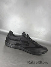 Men's Shoes Sneakers BOTTICELLI Limited Nappa Nero Leather Canvas Suede Black