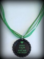 Boutique Bottle Cap Necklace St. Patricks Pattys Day Shamrock Lucky Party Favors