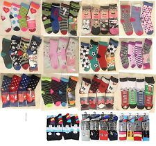 Pack of 6 Boys and Girls Children's Kids Socks Designer Character ALL SIZE