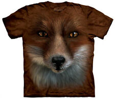 Big Face Fox Adult  Animals Unisex T Shirt The Mountain