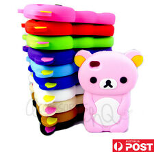 Cute Big Bear Rubber Soft Case Cover Skin for iPhone 4 4S 4G