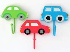 CHILDRENS BEDROOM TRANSPORT DOOR/WALL COAT HOOKS- CAR VEHICLES -SASS & BELLE