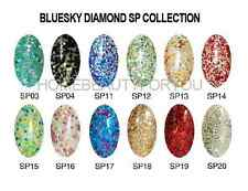 BLUESKY SUPERSTAR DIAMOND GLITTER NAIL GEL POLISH UV LED SOAK OFF. FAST FREE P&P