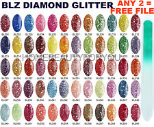 BLUESKY DIAMOND GLITTER RANGE BLZ UV SOAK OFF - UV/LED NAIL GEL POLISH 10ML