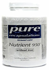 Pure Encapsulations Nutrient 950 without Iron Vegetable Capsules